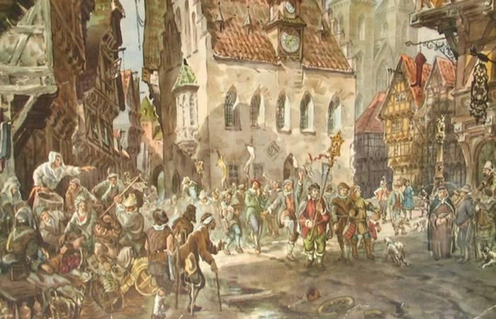 Дикие нравы средневековья...